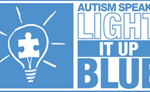 Autism Speaks, Light it up Blue