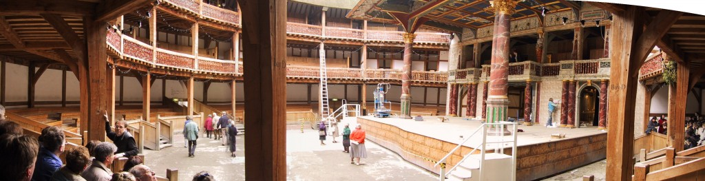 The Globe Theatre, Panorama Innenraum, London