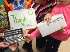 Thank-yous to Speech Buddies from DonorsChoose